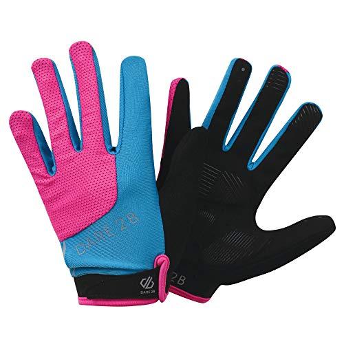 Dare 2b Women's Forcible Lightweight Hardwearing Ergonomic Cycling Glove, Cyber Pink, Small