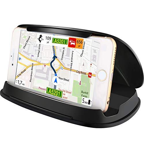 Autotelefonhalter für Samsung Galaxy S8 / Note 8, Universal-Armaturenbrett GPS Halterung für iPhone 8 / X / 7/7 Plus / 6 / 6Plus und andere 3,0-6,8 Zoll Smartphones und Navigation - Schwarz