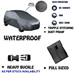 FABTEC:        Water Proof Car Body Cover      100% Waterproof Matt finish Car Body Cover made by 100% Waterproof Material.   Highly Durable and Long Lasting, 100% Waterproof material protects your vehicle against wet, humid and dusty climatic con...
