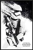 empireposter Star Wars - Episode VII - Das Erwachen der Macht EP7 Stormtrooper - Poster Plakat - Größe 61x91,5 cm + Wechselrahmen, Shinsuke® Maxi Kunststoff schwarz, Acryl-Scheibe