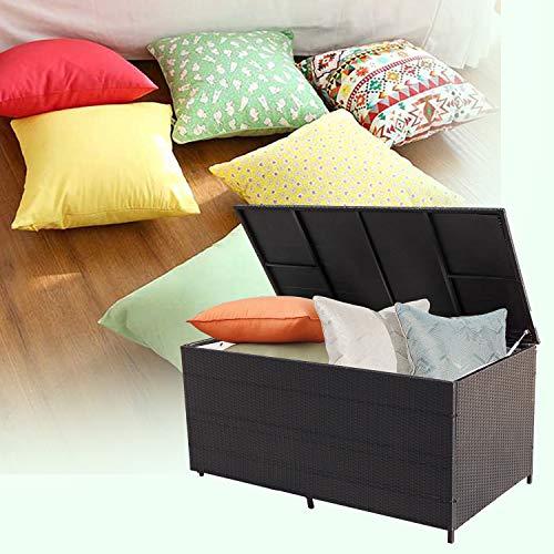 Wolketon® 950 L XXL Schwarz Garten Kissenbox 146 x 83 x 80 CM Auflagenbox Gartenbox Aufbewahrungsbox bis 150 kg belastbar