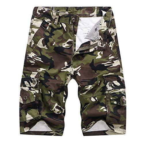 LukJZo Cargo-Shorts Männer Camouflage Armee Militär Casual Shorts Sommer Neue europäische und amerikanische Herren Multi-Pocket-Camouflage Shorts Overalls