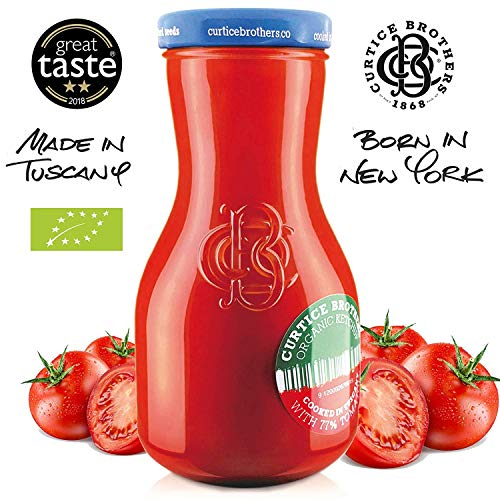 Curtice Brothers 6er-Pack Organic Tomato Ketchup - BIO Ketchup aus der Toskana mit 77% Tomaten Anteil - 6 x 300g