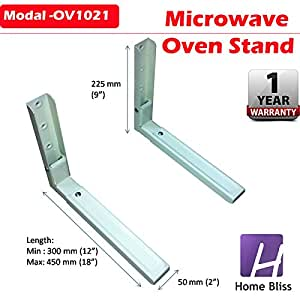 Home Bliss Universal Microwave Oven Wall Mount Stand / Bracket With Length Adj. Mechanism
