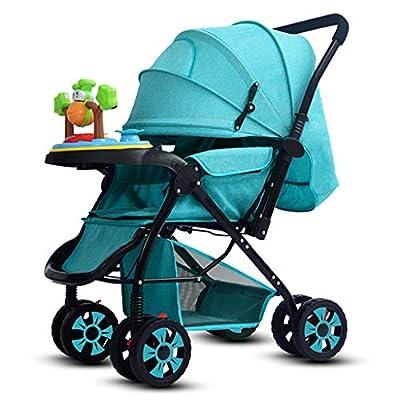 BABY STROLLER ZLMI El Alto Paisaje Portable del Cochecito de bebé amplió de Largo Puede Sentarse/Cochecito Plegable de la Mentira Cuatro Estaciones universales 0-3 años