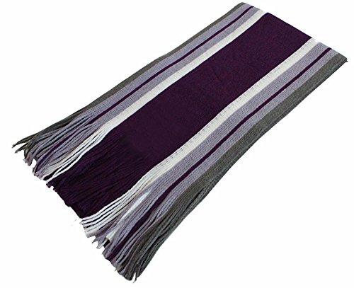 Demarkt Couvre-Écharpe d'Homme en Acrylique et Cachemire Taille: 180CM(L)*26CM(W) (violet) Demarkt