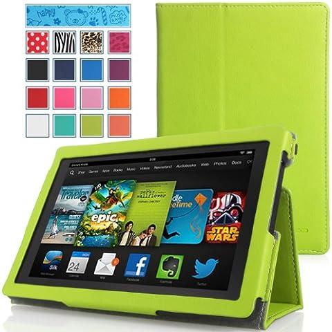 MoKo Amazon Kindle Fire HD 7 2013 Funda - Slim Soporte Funda para Amazon Fire HD 7.0 Pulgadas 2013 Gen Tableta, VERDE (Con Cierre Magnético Para Reposo Automático, NO va a caber el 2012 Fire HD 7 / 2013 Fire HDX 7 o HD 7 2014 Gen)