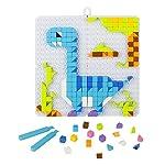 Nel gioco il bambino sviluppa le proprie potenzialità intellettive, affettive e relazionali. ★ Puzzle di mosaico di dinosauro. Soddisfare i bambini pazzi per i puzzle e per i dinosauri. Contiene 6 Dinosaur Jigsaw Guidance. ★ Attira l'attenzione dei b...
