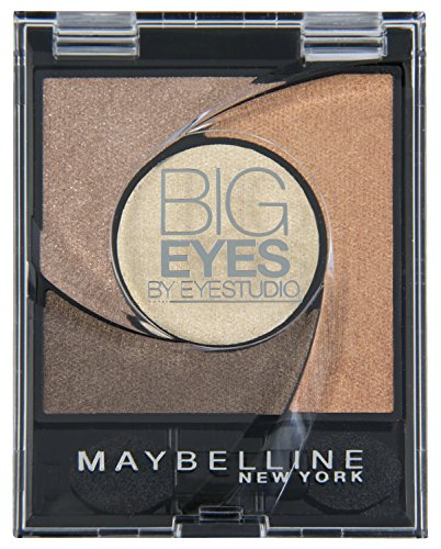 Maybelline New York Lidschatten Eyestudio Big Eyes Palette Brown 01 / Eyeshadow Set in Braun-Tönen mit Wet-Technologie und Perl-Pigmenten, 1 x 3,7 g -