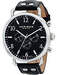 Akribos XXIV Reloj con Movimiento Cuarzo Suizo AK752SSB 45 mm