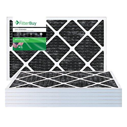 filterbuy Allergen Geruch Eliminator Merv 8Bundfaltenhose AC Ofen Air Filter mit Aktivkohle, 6Stück, AFB16x20x1OEpk6 (Ofen-filter 16x20x1 Geruch)