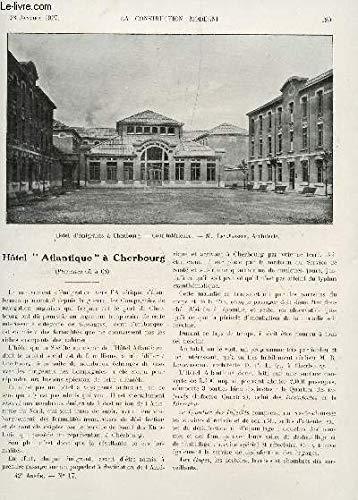 LA CONSTRUCTION MODERNE - N°17 - 23 JANVIER 1927 / HOTEL