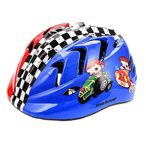 Kinder Fahrradhelm, Skaterhelm, Sicherheitshelm METEOR (Racing 2, XS 44-48cm)