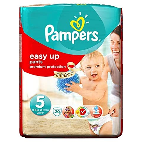 Pampers Easy Up 20 Couches Taille 5 (12-18 kg)