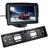 Buyee Auto Rückfahrkamera 170 Nachtsicht+Nummernschild+4,3 Bildschirm Monitor