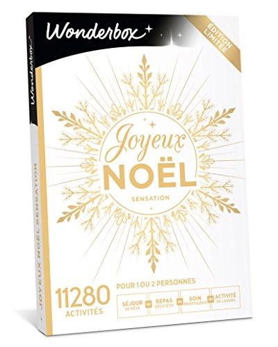 Wonderbox – Coffret cadeau noël JOYEUX NOEL Sensation – 11280 activités, séjours de rêve, repas délicieux, soins bien-être prestigieux ou loisirs pour 1 ou 2 personnes