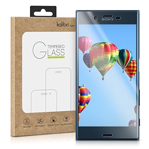 kalibri-Echtglas-Displayschutz-fr-Sony-Xperia-XZ-3D-Schutzglas-Full-Cover-Screen-Protector-mit-Rahmen-in-Transparent