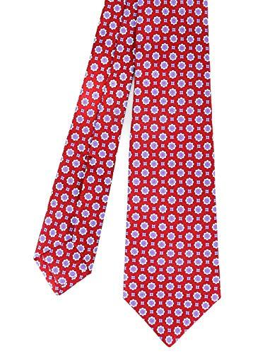 Kiton Herren 9E3308 Rot Seide Krawatte