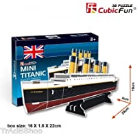 TradeShopTraesio® - CUBICFUN MINI 3D PAPER PUZZLE MINI TITANIC 30 PZ PEZZI