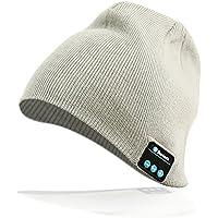 Bluetooth-Mütze Stereo-Kopfhörer 4,2 Wireless Knit Beanie geeignet für Outdoor-Sport Weihnachtsgeschenke schwarz und grau (grau)