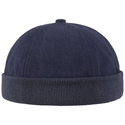Hutshopping Cotton Dockercap Herren   Mütze aus 100% Baumwolle   Docker in Einheitsgröße (54-61 cm)   Cap mit Klettverschluss   Hafenmütze in Verschiedenen Farben   ganzjährig Tragbar, Blau, Einheitsgröße