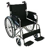 Klappbarer Rollstuhl aus Aluminium mit Selbstantrieb | Feste Armlehnen und Füßstütze | Sitzbreite: 46 cm | Maximale Belastbarkeit 100 kg | Palacio Modell | Mobiclinic