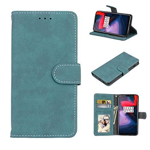 Cofola Für Lenovo Vibe P1 Hülle, Retro Frosted Leder Wallet Schutzhülle Case Cover für Lenovo Vibe P1 [Blau]