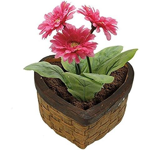 Confezione regalo a forma di cuore, in ceramica, a forma di casetta per vasi da fiori, a forma di cuore