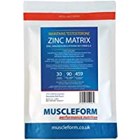 Muscleform ZINC MATRIX Zinc & Magnesium Formula 500mg capsules 270 x 500mg capsules - 90 days supply - Fast Delivery | Free Express Delivery
