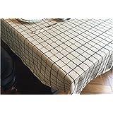 SCLOTHS Mantel de algodón clásico simple decoración de la Mesa de Comedor 120*170cm