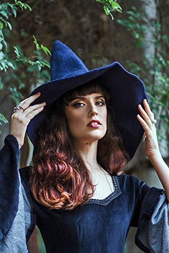Hexenhut blau wolle, Halloween kostüm