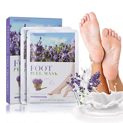 Fußmaske Fuß Peeling Maske zu Hornhaut Entfernung 2 Paar Hornhaut Socken Fuß Hornhautentferner Peeling Socken Exfoliating Foot Maske Samtweiche und zarte Füße Innerhalb von 3-7 Tagen