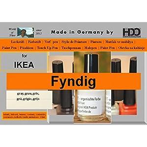 Farbstift Lackstift Touch-Up-Pen for IKEA FYNDIG grau / grey