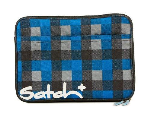 """Preisvergleich Produktbild Satch Plus by Ergobag Laptopsleeve 15,6"""" Airtwist - Karo Dunkel Schwarz 911 karo dunkel blau"""