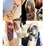 Dalin 4 Sheet Of Fashion Temporary Tattoo, Keep Calm, Japanese Lady, Sexy Lady
