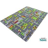 HEVO Stadt Mix Strassen Spielteppich   Kinderteppich 145x200 cm