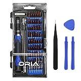 Oria - Juego de destornilladores de precisión (magnética, kit de herramientas profesionales con 56 puntas y reparación para iPhone, Tabletas, PC, PS4, Cámara, color Azul