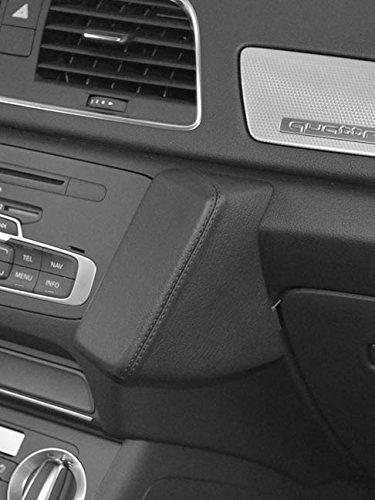 Kuda Telefonkonsole für Audi Q3 ab 10/2011, Kunstleder, Schwarz Iso Mount (iso-radios