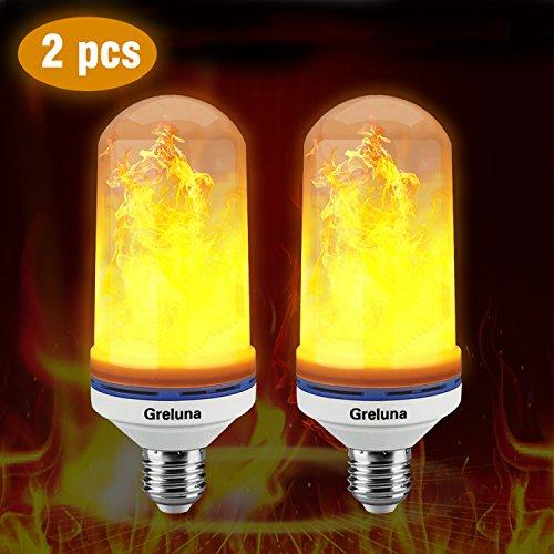 Flame LED Glühlampe, E26/E27LED-Flamme Effekt Fire Glühlampen, Piercings 2835LED Perlen Flamme flackernd Lampen für Garten/Bars/Restaurants/Haus decoration-new Version (2Pack).