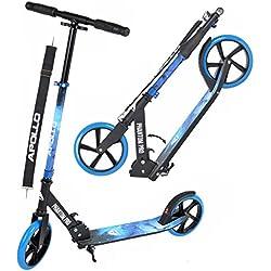 Apollo XXL Wheel Kick Scooter 200 mm - Phantom Pro étoiles est Un Trotinette City Scooter de, City-Roller Pliable et réglable en Hauteur pour Adultes et Enfants