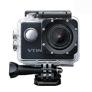 Vtin Eypro 1 Cámara Deportiva,1080p 12MP FHD WIFI Impermeable,Sumergible hasta 30m con Multiples Accesorios