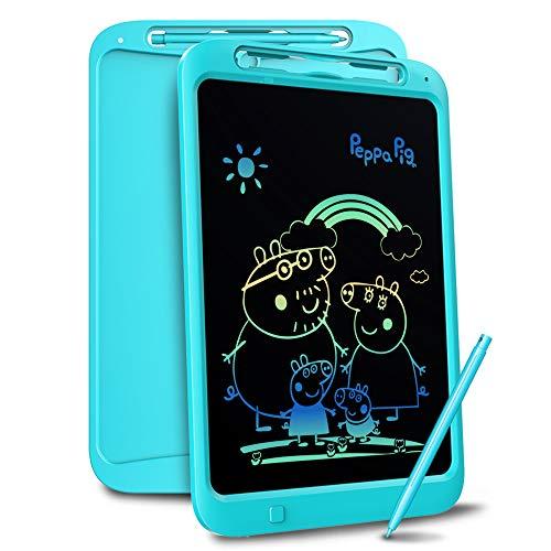 Richgv Bunte 12 Zoll LCD Writing Tablet mit Anti-Clearance Funktion und Stift, Digital Ewriter Grafiktabletts Mini Schreibtafel Papierlos Notepad Doodle Board für Kinder Über Jahre 2 (Blau-1)