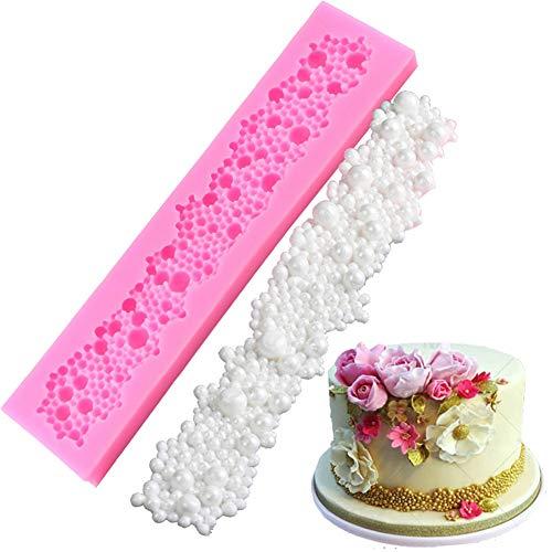 Da.Wa Perlenkette Grenze Silikon Formen Kuchen Dekorieren Werkzeuge Geeignet für Hochzeit Weihnachten