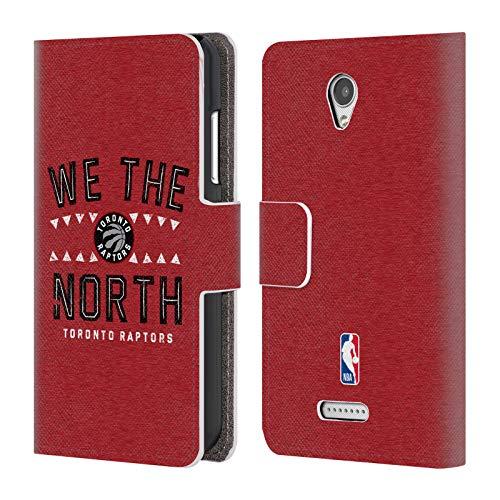 Head Case Designs Offizielle NBA Raptors We The North 2018/19 Team Slogan 2 Brieftasche Handyhülle aus Leder für Lenovo B/Vibe B