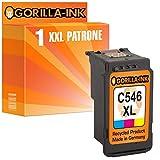 Gorilla-Ink® 1x Tintenpatrone XXL remanufactured für Canon CL-546 XL Pixma IP2800 Series IP2850 MG2400 Series MG2440 MG2450 MG2540 MG2550S MG2555S MX495 MX490 Series