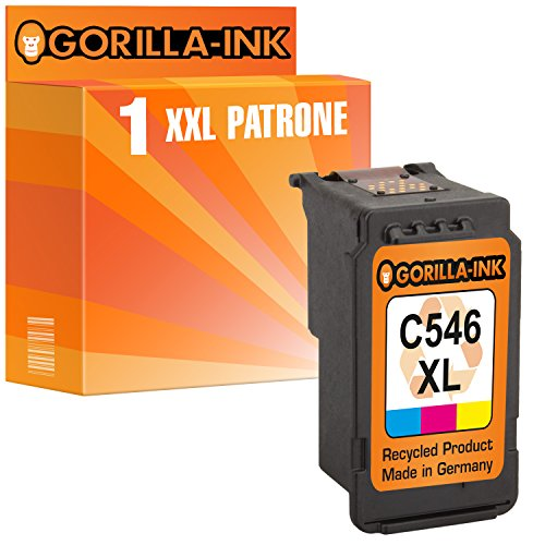 Gorilla-Ink 1x Tintenpatrone XXL Color remanufactured für Canon CL-546 XL Pixma IP2800 Series IP2850 MG2400 Series MG2440 MG2450 MG2540 MG2550S MG2555S MX495 MX490 Series -