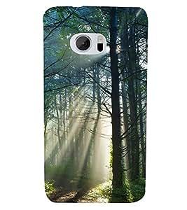 Fuson Designer Back Case Cover for HTC 10 :: HTC One M10 (Sunshine Full Bloomed Trees Orange Trees Spring Autumn)