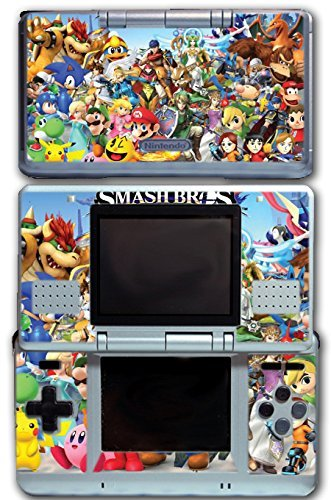 Super Smash Bros Melee Brawl Mario Pikachu Yoshi Mega Man Zelda Sonic Metroid Video Game Vinyl Decal Skin Sticker Cover for Original Nintendo DS System by Vinyl Skin Designs - Ds Und Mario Sonic