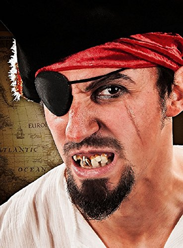 Piraten Zähne künstliches Gebiss für (Latex Beißer Maske)