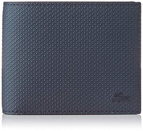 Lacoste Herren Nh2826ce Geldbörse, Blau (Peacoat), 0.5x10.5x10.5 Centimeters -
